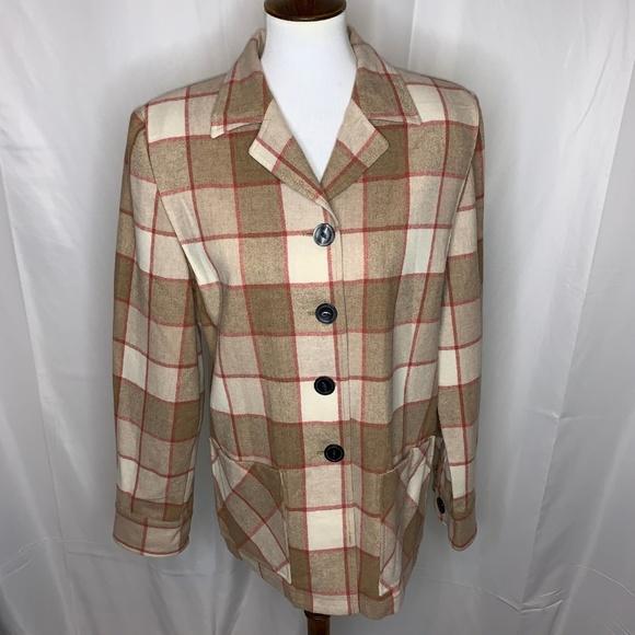 Pendleton Jackets & Blazers - Pendleton Vintage Plaid Button-Up Blazer Jacket